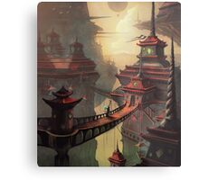 High Mountain Temples Metal Print
