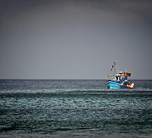 Lone boat by Mike Higgins