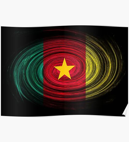 Cameroon Twirl Poster