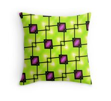 Trendy Neon Graphic Geometric Fashion Throw Pillow