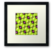 Trendy Neon Graphic Geometric Fashion Framed Print
