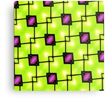 Trendy Neon Graphic Geometric Fashion Metal Print