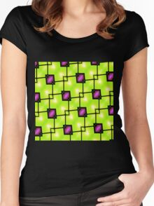 Trendy Neon Graphic Geometric Fashion Women's Fitted Scoop T-Shirt