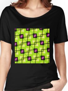 Trendy Neon Graphic Geometric Fashion Women's Relaxed Fit T-Shirt