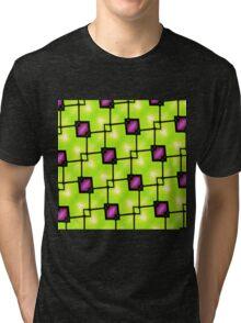 Trendy Neon Graphic Geometric Fashion Tri-blend T-Shirt