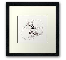 Chinky and Chang ~ yin and yang Framed Print