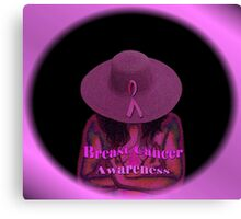 Breast Cancer Awareness Canvas Print