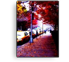 Taxi Line Up Canvas Print