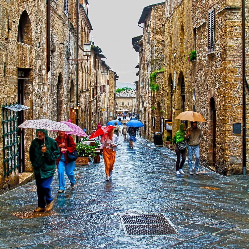San Gimignano in the Rain. by GBR309