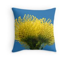 Golden Protea Throw Pillow