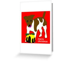 Jack Russell Christmas Pudding Greeting Card