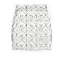 Skull and snowflake - print Mini Skirt