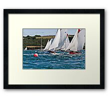 The Falmouth Working Boats Start. Framed Print