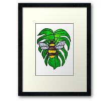 Monstera Bee Framed Print