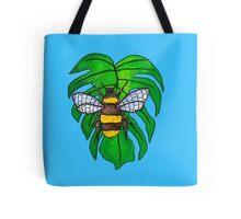 Monstera Bee Tote Bag