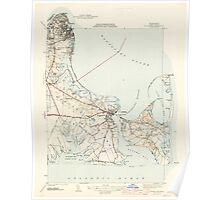 Massachusetts  USGS Historical Topo Map MA Edgartown 351666 1944 31680 Poster
