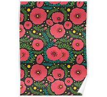 The Pink Flowers Garden  Poster