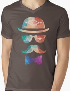 Retro mustache Mens V-Neck T-Shirt