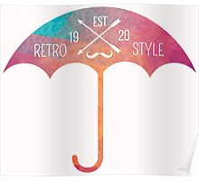 Retro umbrella Poster