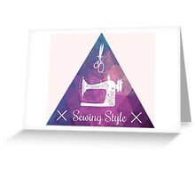 Sewing style retro Greeting Card