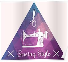 Sewing style retro Poster