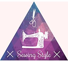 Sewing style retro Photographic Print