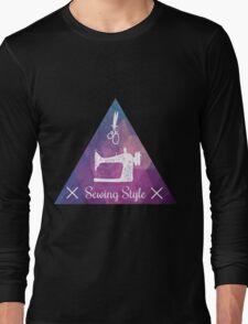 Sewing style retro Long Sleeve T-Shirt