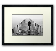 Lonely towards the unknown Framed Print