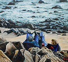 Sunday afternoon at the tide pool by fieldsendart