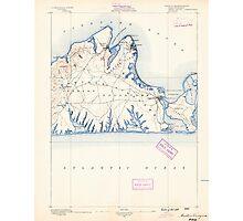 Massachusetts  USGS Historical Topo Map MA Marthas Vineyard 352837 1889 62500 Photographic Print