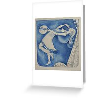 The (Woman) Painter: to the moon (after Chagall) Greeting Card