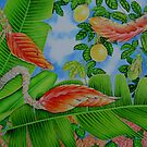 Heliconia & Lilikoi by joeyartist