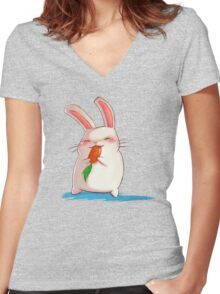 sweet carrot Women's Fitted V-Neck T-Shirt