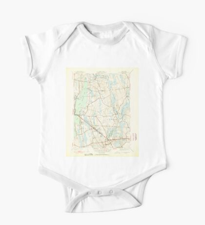 Massachusetts  USGS Historical Topo Map MA Fall River East 351687 1951 31680 One Piece - Short Sleeve