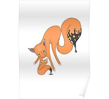 Ink Foxes Poster