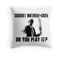 Rude Funny Cricket Shirt Throw Pillow