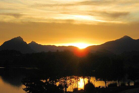 Sunset on the Alps by Jeri Garner