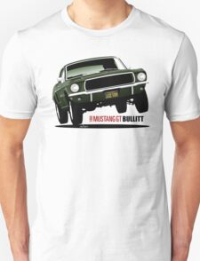 1968 Ford Mustang GT from Bullitt T-Shirt