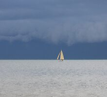 Stormy Evening Sail - Port Phillip Bay, Melbourne, Victoria by Ruth Durose