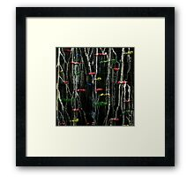 Ink and acrylic abstract painting Framed Print