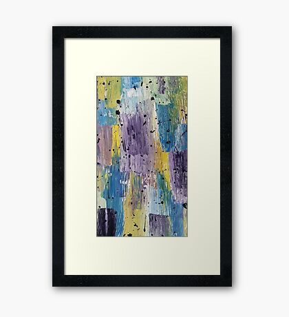 Acrylic abstract colorful painting Framed Print