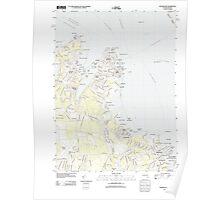 Massachusetts  USGS Historical Topo Map MA Edgartown 20120606 TM Poster