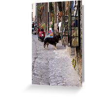 Sidewalk scene Greeting Card