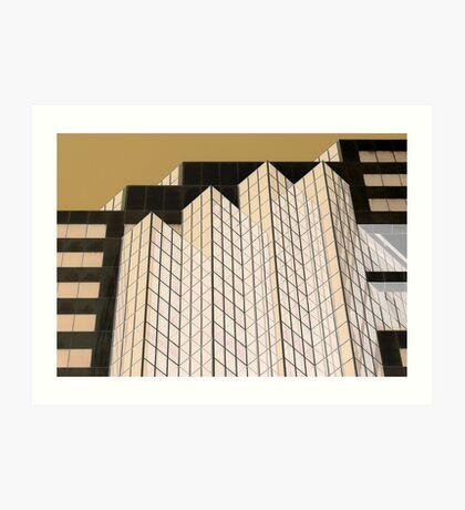 Zenith Centre Chatswood Golden Glow  Art Print