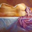 Nude Study with Satin by Lynda Robinson