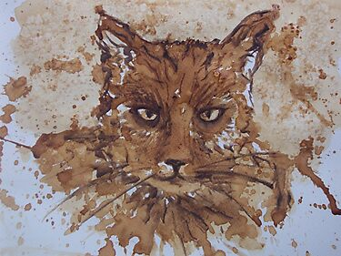 Caffeine Kitty by Dianne  Ilka