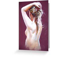 Nude Study (Pastel) Greeting Card