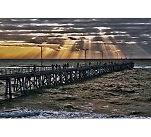 Sunset on the jetty Photographic Print