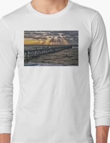 Sunset on the jetty Long Sleeve T-Shirt