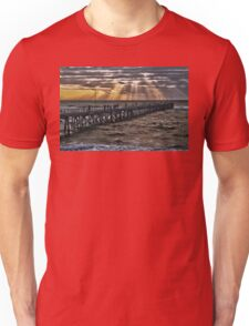 Sunset on the jetty Unisex T-Shirt